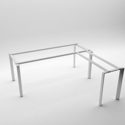 Mẫu bàn làm việc chữ L chân sắt tam giác BVQE-25C-L